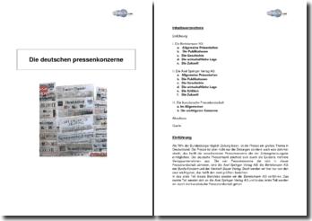 Die Deutschen Pressenkonzerne
