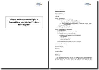 Online- und Gratiszeitungen in Deutschland und die Motive ihrer Herausgeber