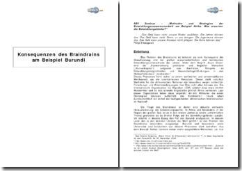 Konsequenzen des Braindrains am Beispiel Burundi