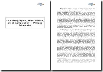 « La cartographie, entre science, art et manipulation », Philippe Rekacewicz