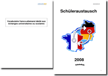 Vocabulaire franco-allemand dédié aux échanges universitaires ou scolaires