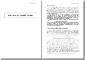 Die DDR als Unrechtsstaat