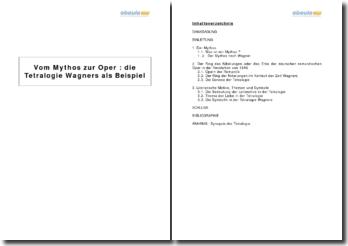 Vom Mythos zur Oper : die Tetralogie Wagners als Beispiel