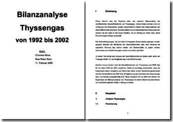 Bilanzanalyse Thyssengas