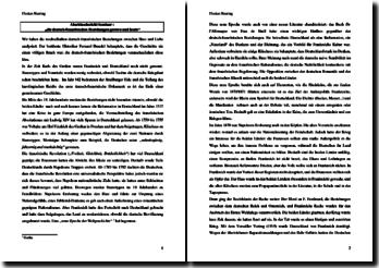 Abschlussbericht Seminar: die deutsch-französischen Beziehungen gestern und heute
