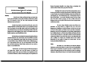 Goethe und Plenzdorf