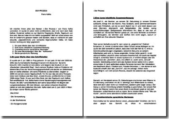 Résumé de Der Prozess de Kafka