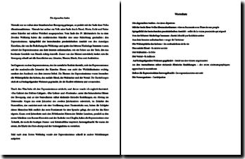 Dissertation type en allemand sur l'expressionnisme allemand