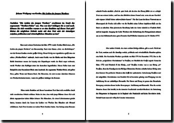 Johann Wolfgang von Goethe, Die Leiden des jungen Werthers