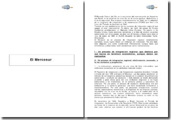 El Mercosur: El Mercado Comun del Sur