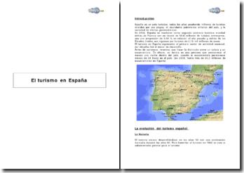 El turismo en Espana