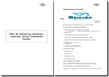 Plan de Marketing Maresme, empresa virtual simulando Caprabo