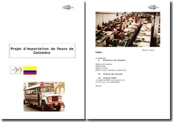Projet d'importation de fleurs de Colombie
