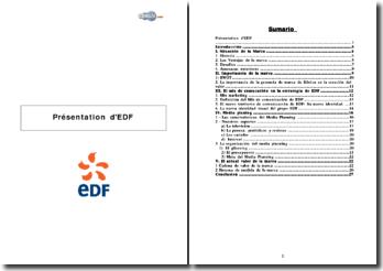 Dossier de présentation d'EDF