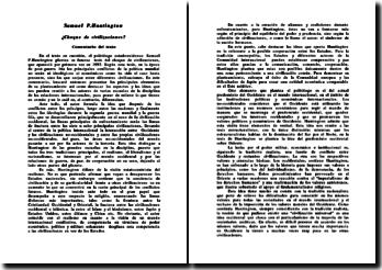 Samuel P.Huntington, Choque de civilizaciones?