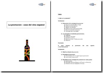 La promoción : Caso del vino español