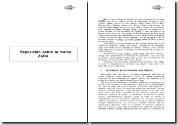 Exposicion sobre la marca ZARA