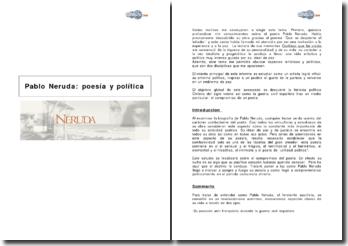 Pablo Neruda: poesía y política