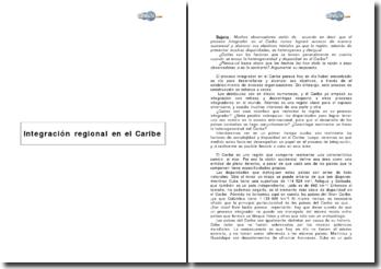 Integración regional en el Caribe