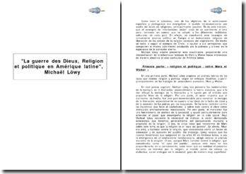 La guerre des Dieux, Religion et politique en Amérique latine, de Michaël Löwy
