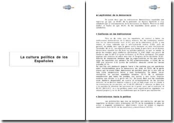 La cultura política de los españoles