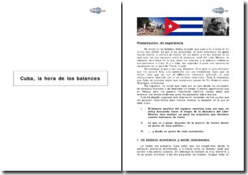 Cuba, la hora de los balances