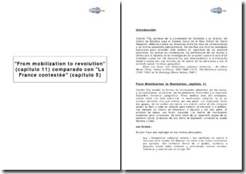 From mobilization to revolution (capítulo 11) comparado con La France contestée (capítulo 5)
