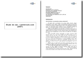 Etude de cas : Lastminute.com (2007)