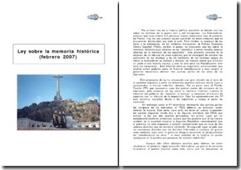 Ley sobre la memoria histórica (febrero 2007)