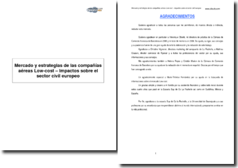 Mercado y estrategias de las compañías aéreas Low-cost - Impactos sobre el sector civil europeo