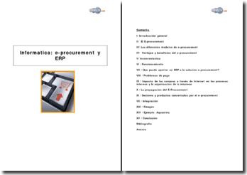 Informatica: e-procurement y ERP