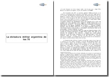 La dictadura militar argentina de los 70