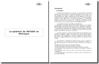 La epidemia de VIH/SIDA en Nicaragua