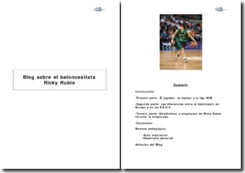 Pro-act langue : ESPAGNOL Blog sobre el baloncestista Ricky Rubio