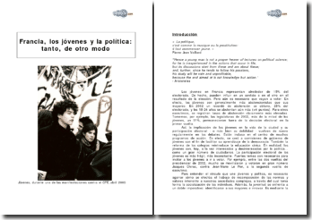 La France, les jeunes et la politique : autant, sur un autre mode