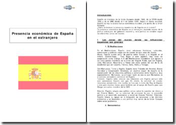 Présence économique de l'Espagne à l'étranger