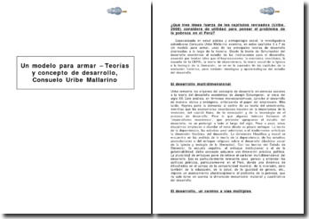 Un modelo para armar - Teorías y concepto de desarrollo de Consuelo Uribe Mallarino