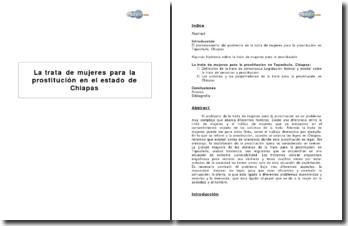 La trata de mujeres para la prostitución en el estado de Chiapas