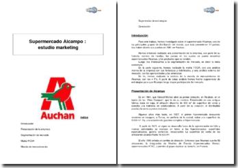 Supermercado Alcampo : estudio marketing y sugerencias para el desarrollo