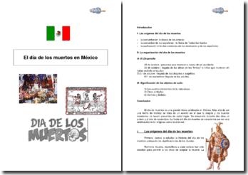 El dia de los muertos en Mexico