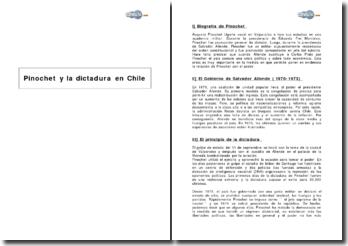 Pinochet y la dictadura en Chile