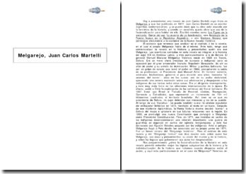 Melgarejo de Juan Carlos Martelli, analisis del capítulo 2