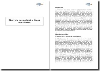 Aburrida normalidad e ideas recurrentes : la última etapa de la historia económica de España (a partir de 1992)