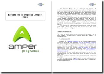Estudio financiero de la empresa Amper, 2009