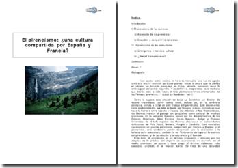 El pireneísmo: una cultura compartida por España y Francia?