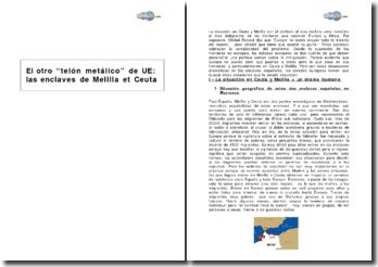El otro telón metálico de la Unión europea: las enclaves de Melilla et Ceuta