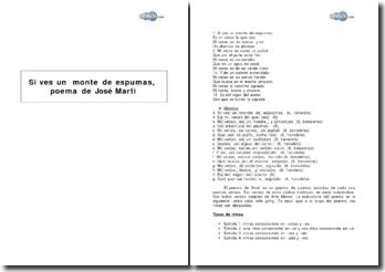 Si ves un monte de espumas, poema de Jose Marti