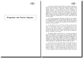 Programa del Frente Popular en España (1935)