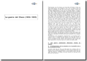 La guerra del Chaco (1932-1935)