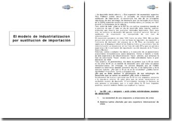 El modelo de industrializacion por sustitucion de importacion